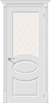 Межкомнатная дверь Эмаль Skinni 21 Whitey/White Сrystal - фото 10091