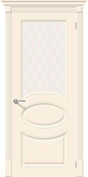 Межкомнатная дверь Эмаль Skinni 21 Whitey/White Сrystal - фото 10092