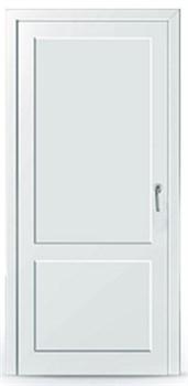 Пластиковая дверь без остекления с перегородкой - фото 11634
