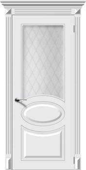 Межкомнатная дверь Эмаль ДЖАЗ со стеклом серая - фото 11709