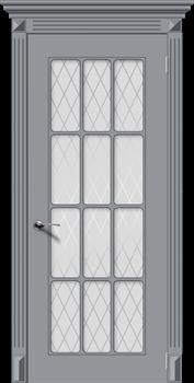 Межкомнатная дверь Эмаль НОКТЮРН со стеклом серая - фото 11718