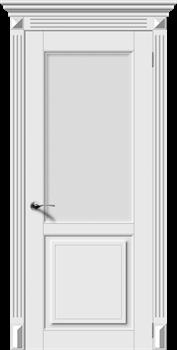 Межкомнатная дверь Эмаль ЛИРА-Н со стеклом серая - фото 11734