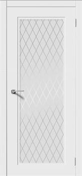 Межкомнатная дверь Эмаль РОНДО-Н со стеклом серая - фото 11756