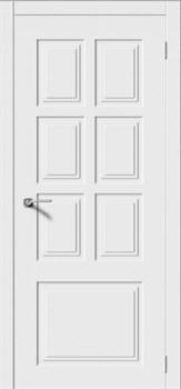 Межкомнатная дверь Эмаль КВАДРО 1 глухая серая - фото 11775