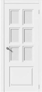 Межкомнатная дверь Эмаль КВАДРО 1 со стеклом серая - фото 11778