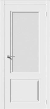 Межкомнатная дверь Эмаль КВАДРО 2 со стеклом серая - фото 11783