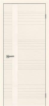 Межкомнатная дверь шпон СИТИ 1 СТЕКЛО КРЕМОВОЕ размер до 2400 - фото 12335