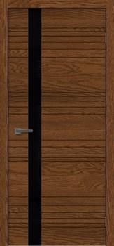 Межкомнатная дверь шпон СИТИ 1 СТЕКЛО ЧЕРНОЕ размер до 2400 - фото 12337
