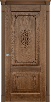 Межкомнатная дверь шпонированная ШЕРВУД 3D глухая размер до 2400 - фото 12342