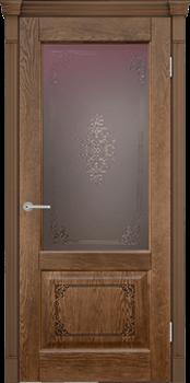 Межкомнатная дверь шпонированная ШЕРВУД 3D со стеклом размер до 2400 - фото 12345