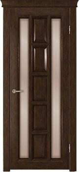 Межкомнатная дверь шпонированная КВАДРА со стеклом размер до 2400 - фото 12351