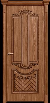 Межкомнатная дверь шпонированная МУАР глухая размер до 2400 - фото 12352