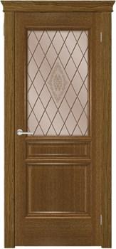 Межкомнатная дверь шпонированная дуб ТРИДОРС со стеклом размер до 2400 - фото 12357
