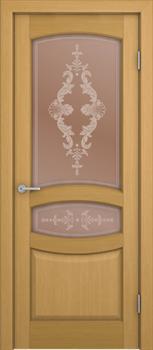 Межкомнатная дверь шпонированная СИЕНА со стеклом размер до 2400 - фото 12361
