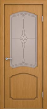 Межкомнатная дверь шпонированная КАРОЛИНА со стеклом размер до 2400 - фото 12365