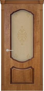 Межкомнатная дверь шпонированная ПРЕСТИЖ 3D со стеклом размер до 2400 - фото 12368