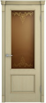 Межкомнатная дверь шпонированная ШЕРВУД ЛОНДОН со стеклом размер до 2400 - фото 12374