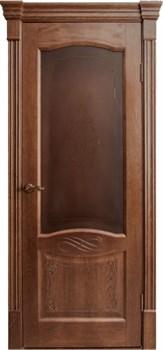 Межкомнатная дверь шпонированная НАПОЛИ 3D со стеклом размер до 2400 - фото 12375