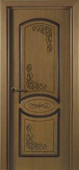 Межкомнатная дверь шпон стандарт МУЗА глухая размер до 2400 - фото 12410