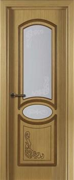 Межкомнатная дверь шпон стандарт МУЗА со стеклом размер до 2400 - фото 12415