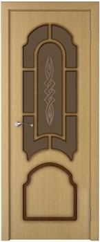 Межкомнатная дверь шпон стандарт СОНАТА со стеклом размер до 2400 - фото 12424