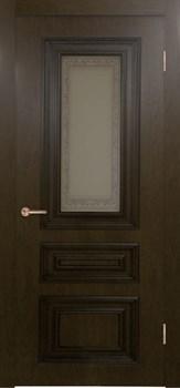 Межкомнатная дверь шпонированная ДУБ ЭЛЕГИЯ со стеклом размер до 2400 - фото 12455