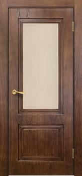 Дверь межкомнатная шпон Сити 5 Орех  Стекло размер до 2400 - фото 12459
