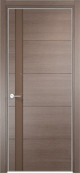 Межкомнатная дверь Экошпон ТУРИН 03 АЛ.КРОМКА - до 2400 высота - фото 12491