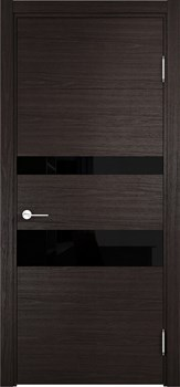 Межкомнатная дверь Экошпон ТУРИН 04 (ДУБ ШОКОЛАД CPL) - до 2400 высота - фото 12497
