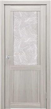 Межкомнатная дверь Экошпон ДВЕРЬ К-12 со стеклом и зеркалом - до 2400 высота - фото 12699