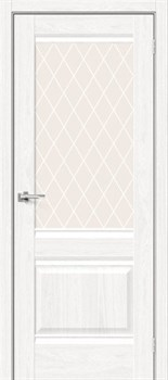 Межкомнатная дверь Экошпон Прима-3 White Dreamline/White Сrystal - до 2400 высота - фото 13002