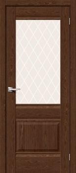 Межкомнатная дверь Экошпон Прима-3 Brown Dreamline/White Сrystal - до 2400 высота - фото 13003
