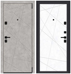 Входная металлическая дверь Porta M 15.15 Grey Art/Snow Art - со звукоизоляцией - фото 13363