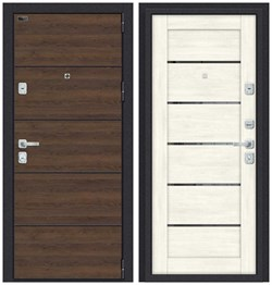 Входная металлическая дверь Porta M П50.Л22 (AB-6) Tobacco Greatwood/Nordic Oak - со звукоизоляцией - фото 13364