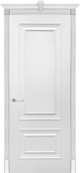Влагостойкая Межкомнатная дверь Эмаль БЕРГАМО глухая - фото 13560