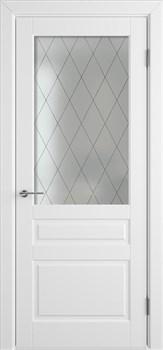 Влагостойкая Межкомнатная дверь Эмаль ЧЕЛСИ 04 со стеклом - фото 13581
