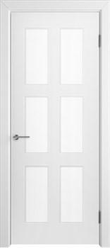 Влагостойкая Межкомнатная дверь Эмаль ЧЕЛСИ 08 со стеклом - фото 13588