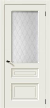 Влагостойкая Межкомнатная дверь Эмаль КАПРИ со стеклом - фото 13590