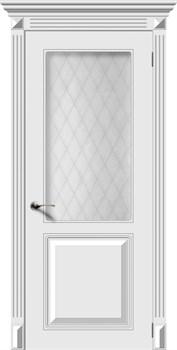 Влагостойкая Межкомнатная дверь Эмаль БЛЮЗ со стеклом - фото 13594
