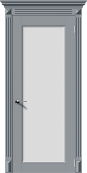 Влагостойкая Межкомнатная дверь Эмаль ГАРМОНИЯ-Н со стеклом - фото 13621