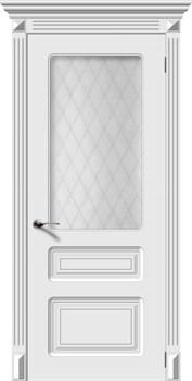 Влагостойкая Межкомнатная дверь Эмаль ТРИО со стеклом - фото 13641