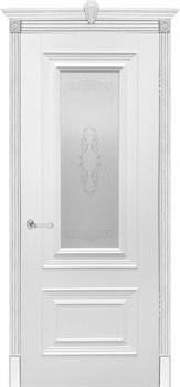 Влагостойкая Межкомнатная дверь Эмаль БЕРГАМО со стеклом - фото 13642