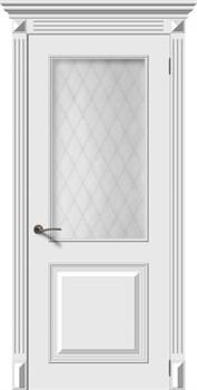 Влагостойкая Межкомнатная дверь Эмаль БАГЕТ 2 со стеклом - фото 13643