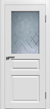 Влагостойкая Межкомнатная дверь Эмаль ГРАНД 3 со стеклом - фото 13650