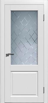 Влагостойкая Межкомнатная дверь Эмаль ГРАНД 2 со стеклом - фото 13651