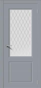 Влагостойкая Межкомнатная дверь Эмаль НОКТЮРН-Н со стеклом - фото 13694