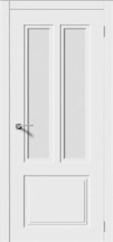 Влагостойкая Межкомнатная дверь Эмаль КВАДРО 3 со стеклом - фото 13711