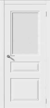 Влагостойкая Межкомнатная дверь Эмаль КВАДРО 4 со стеклом - фото 13717