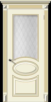 Влагостойкая Межкомнатная дверь Эмаль с патиной ДЖАЗ со стеклом - фото 13730