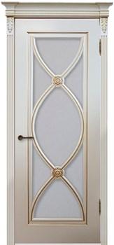 Влагостойкая Межкомнатная дверь Эмаль с патиной ФЛАМЕНКО со стеклом - фото 13733